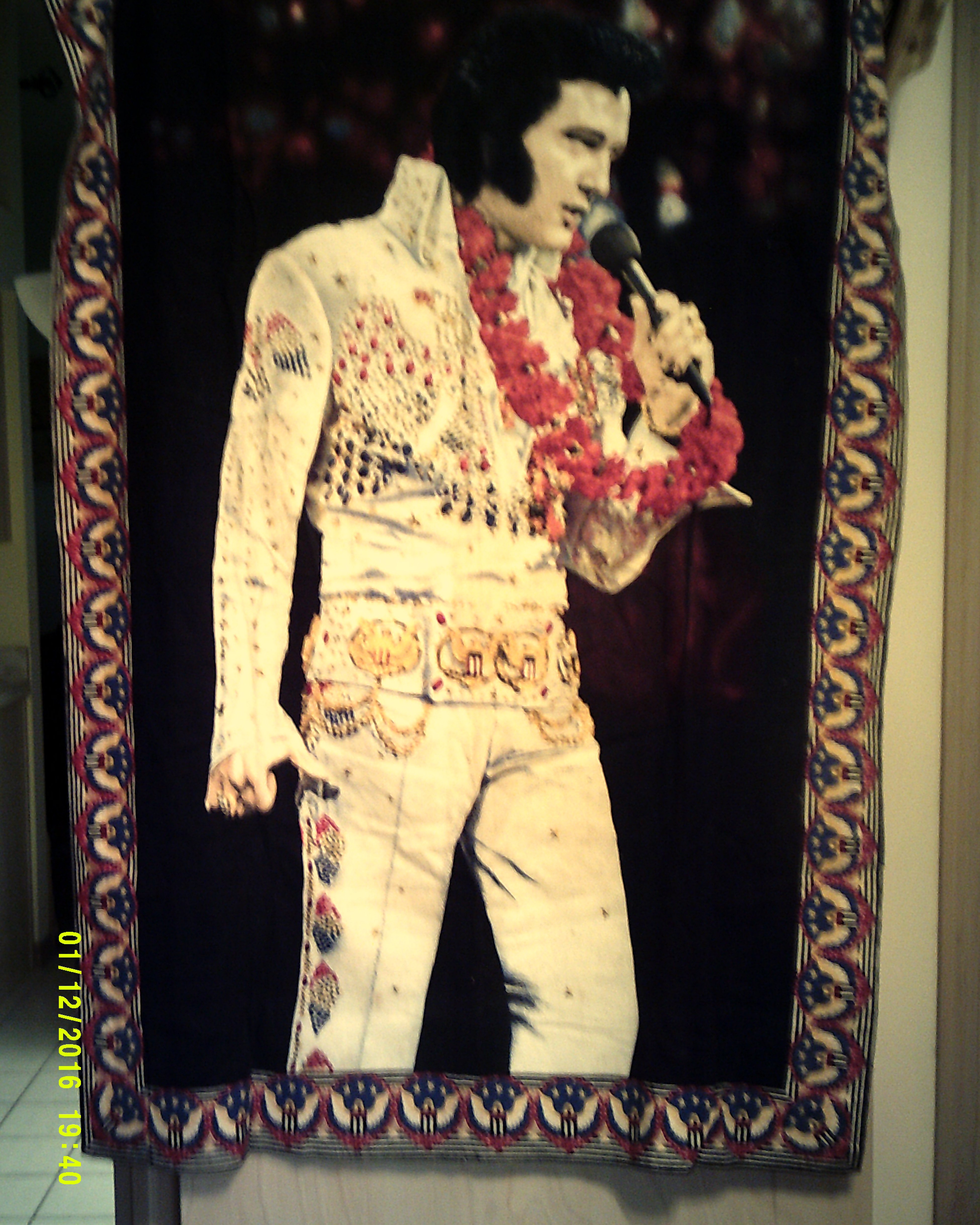 Elvis Presley Wall Tapestry antique appraisal | InstAppraisal