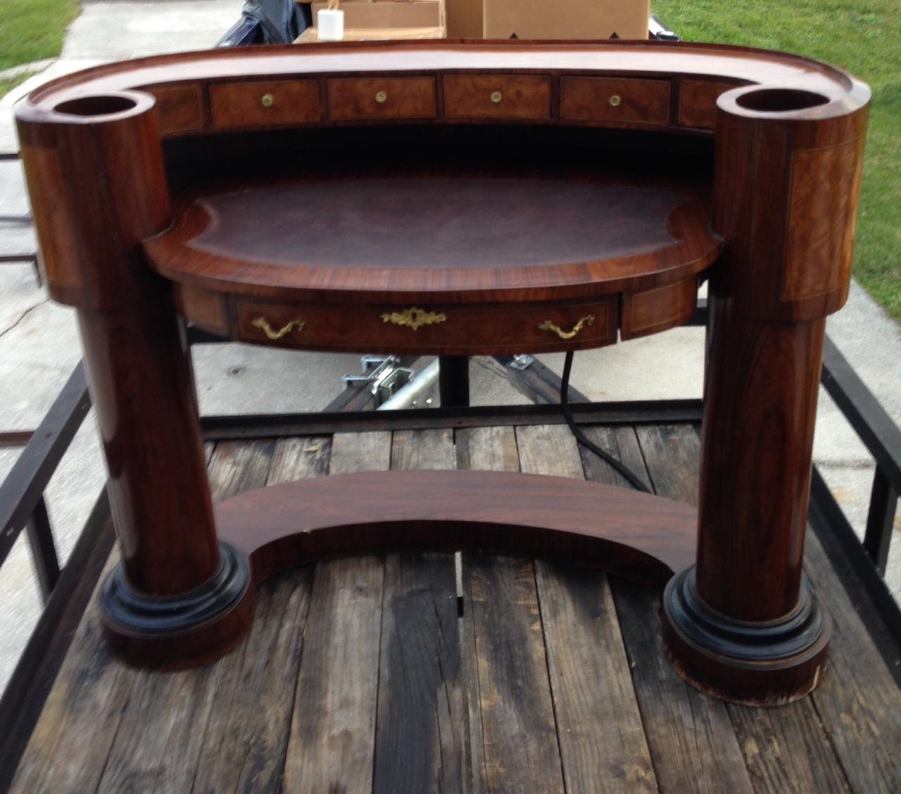 Antique Half Circle Reception Style Desk Antique Appraisal