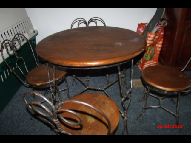 Antique Children's Ice Cream or Soda Fountain table & chair set