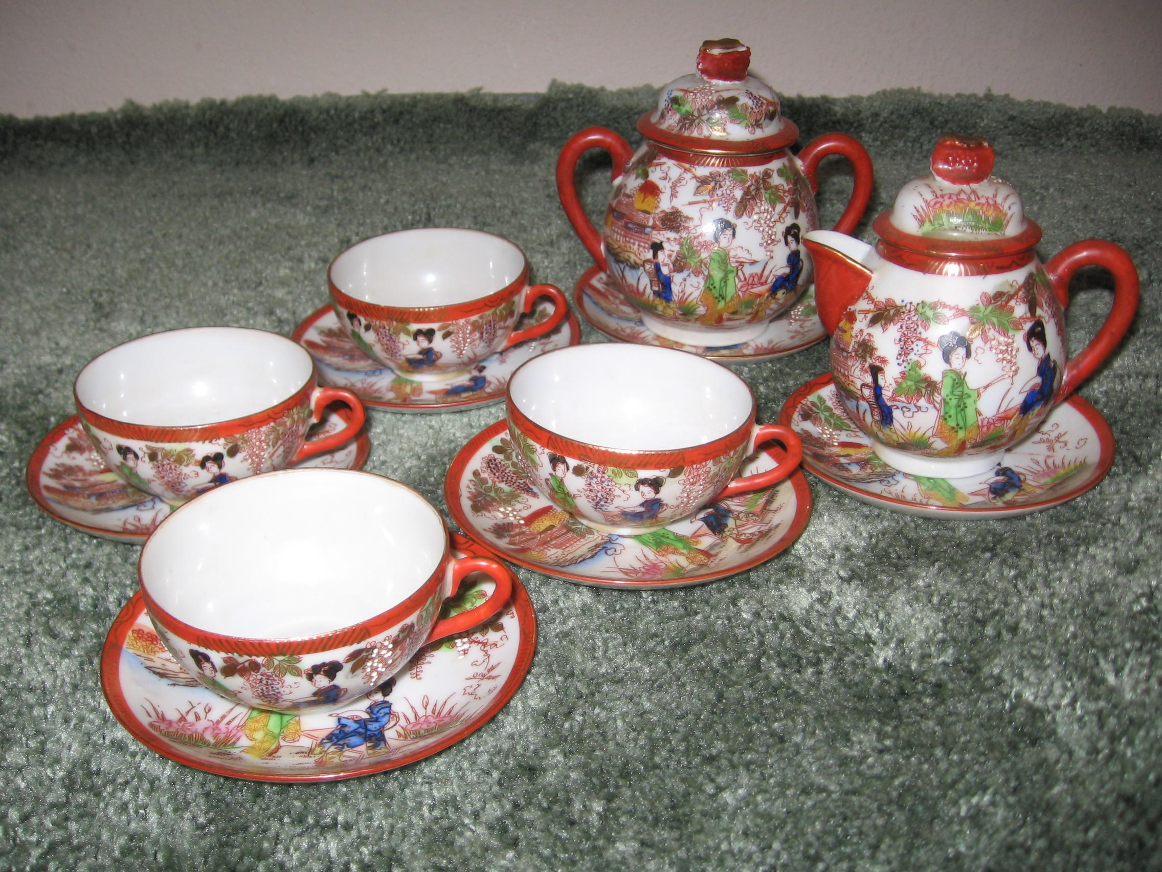 1900-30s Giesha Girls Tea Set
