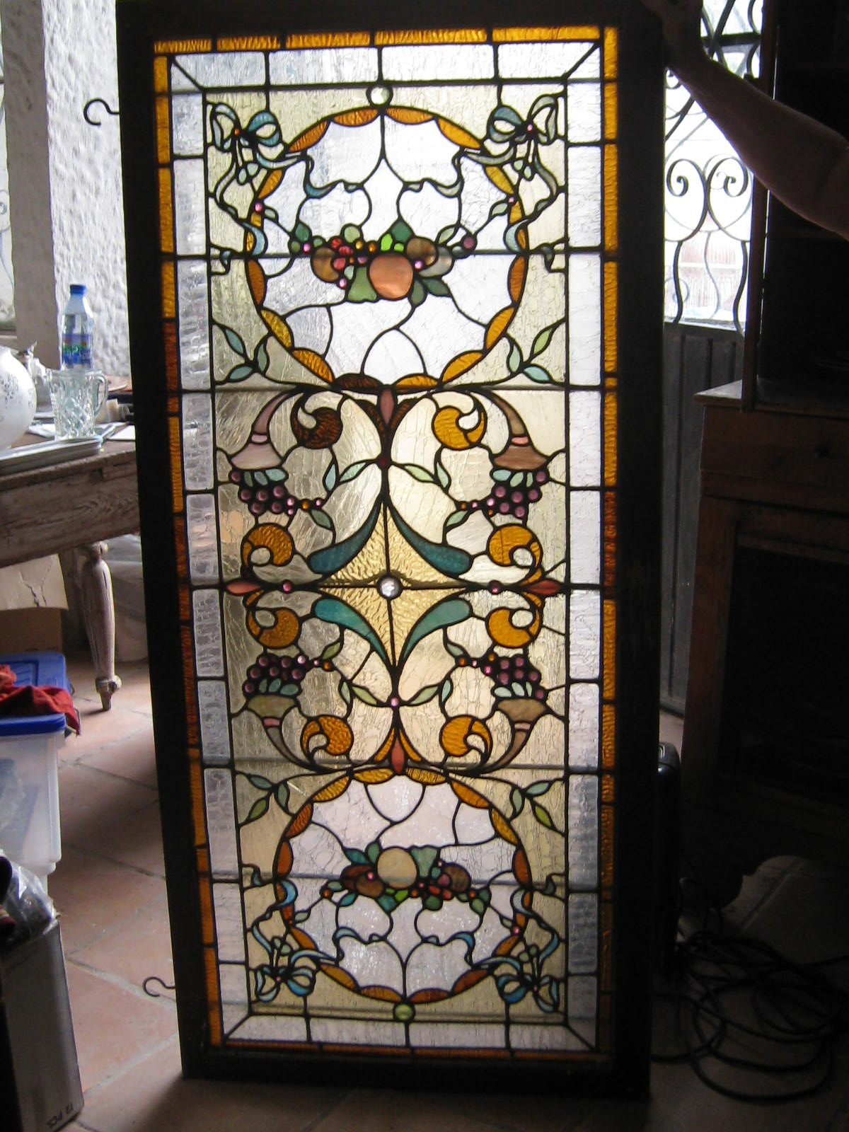 Stained glass panel antique appraisal instappraisal stained glass panel planetlyrics Gallery