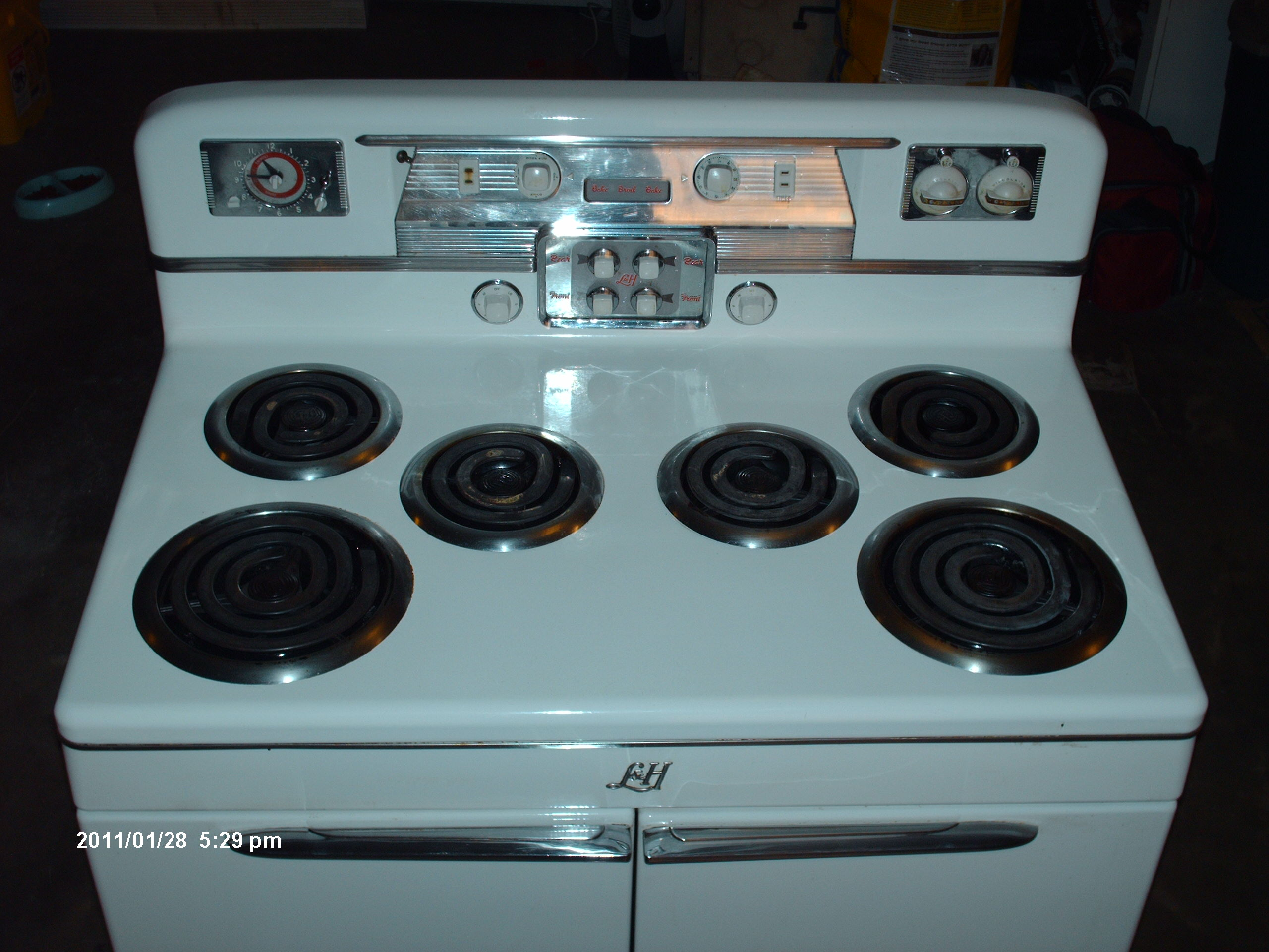 lu0026h sixburner double oven electric range