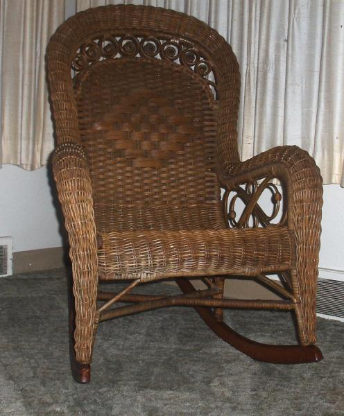 1880 S Piel Bros Wicker Rocking Chair Antique Appraisal