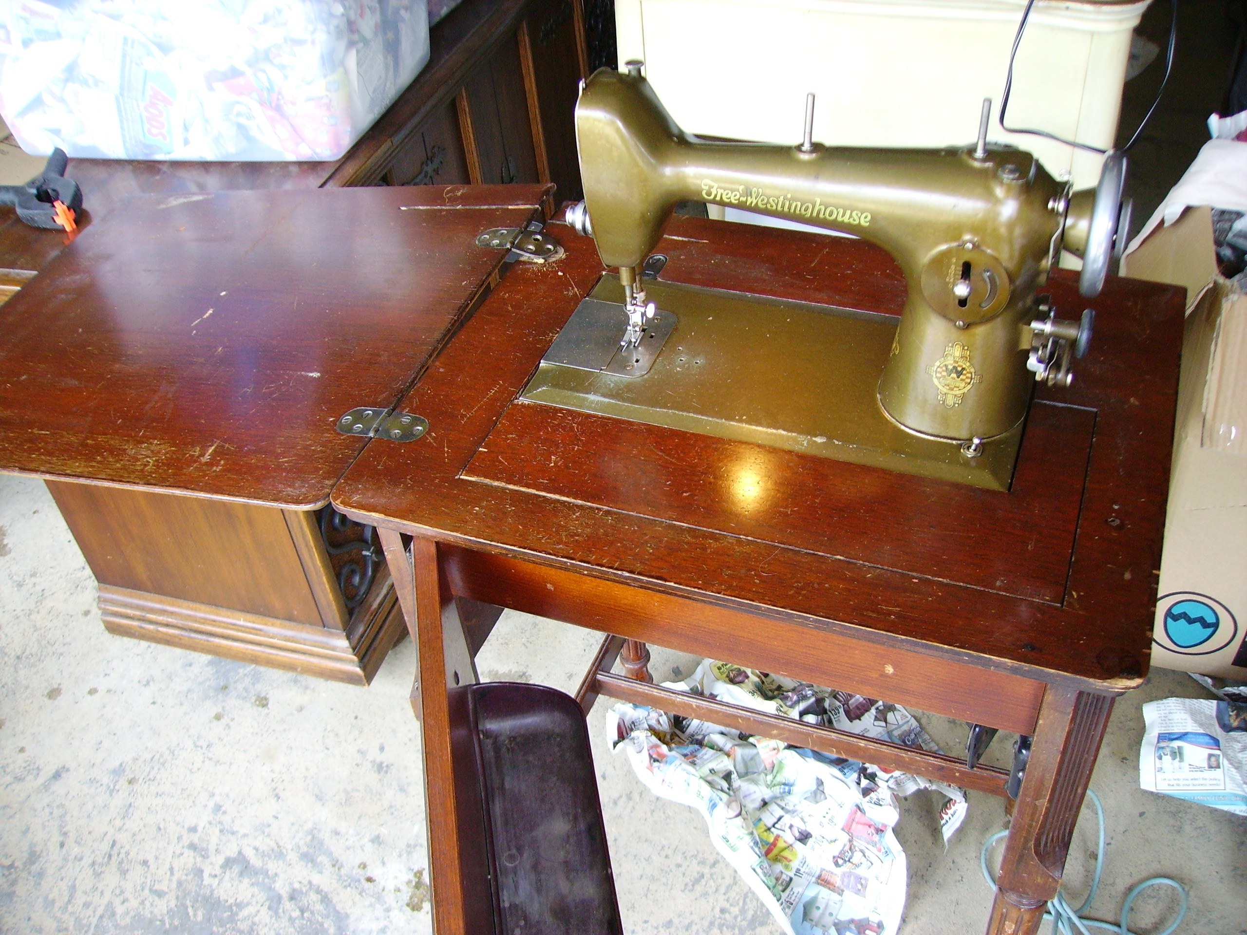 free westinghouse sewing machine type e antique appraisal ...