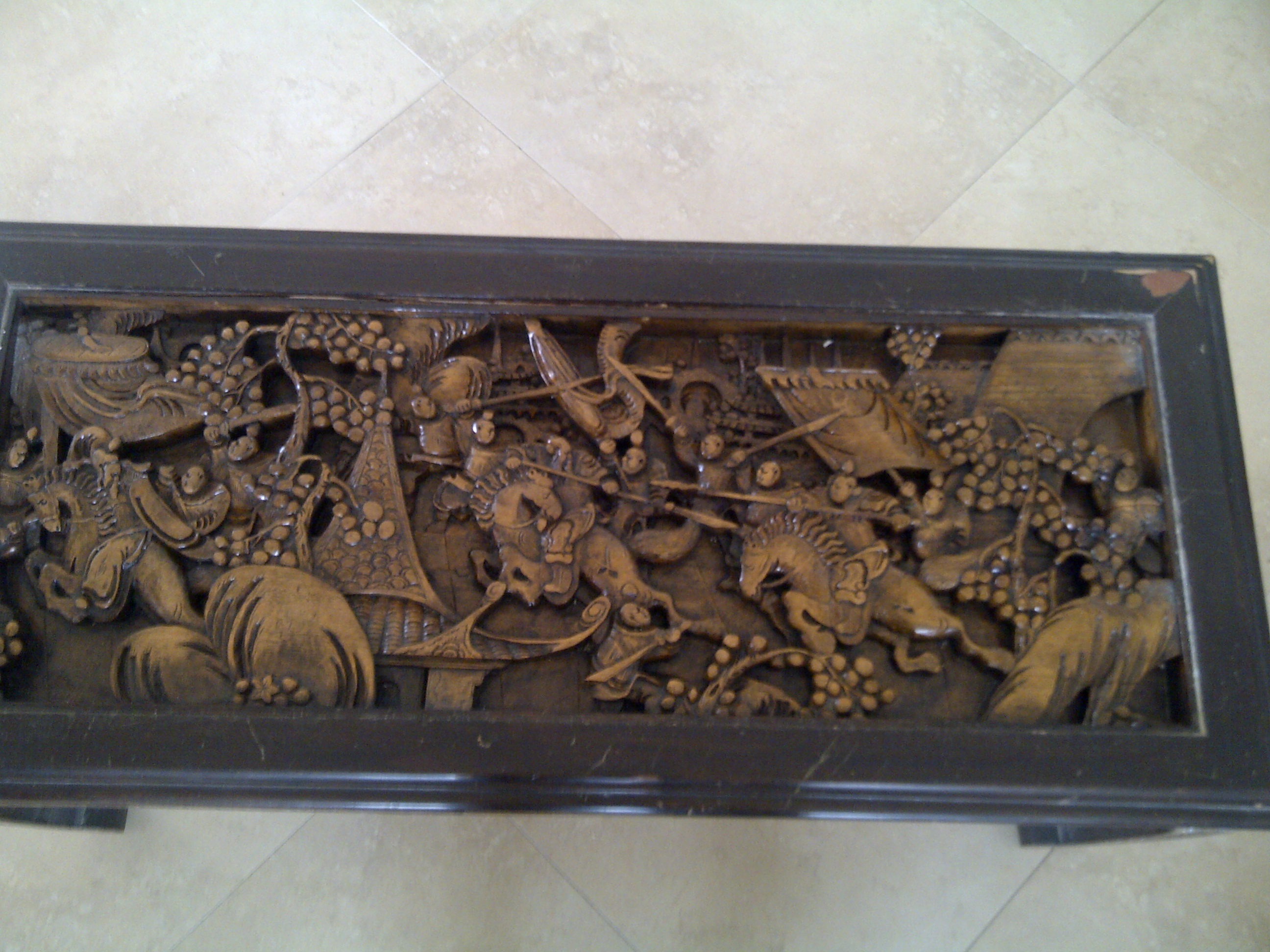 Hand carved Japanese coffee table antique appraisal