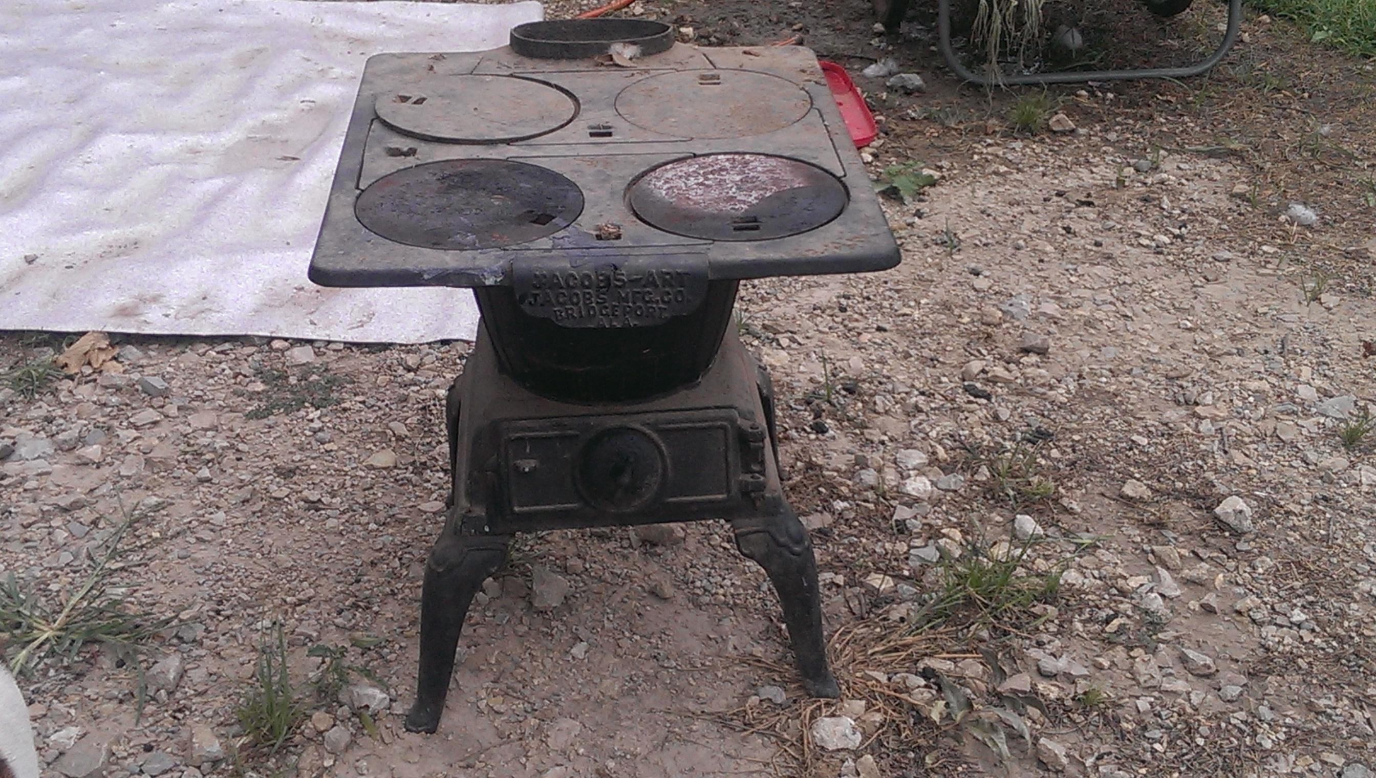 Jacobs Art Potbelly 4 Burner Wood Or Coal Cook Stove