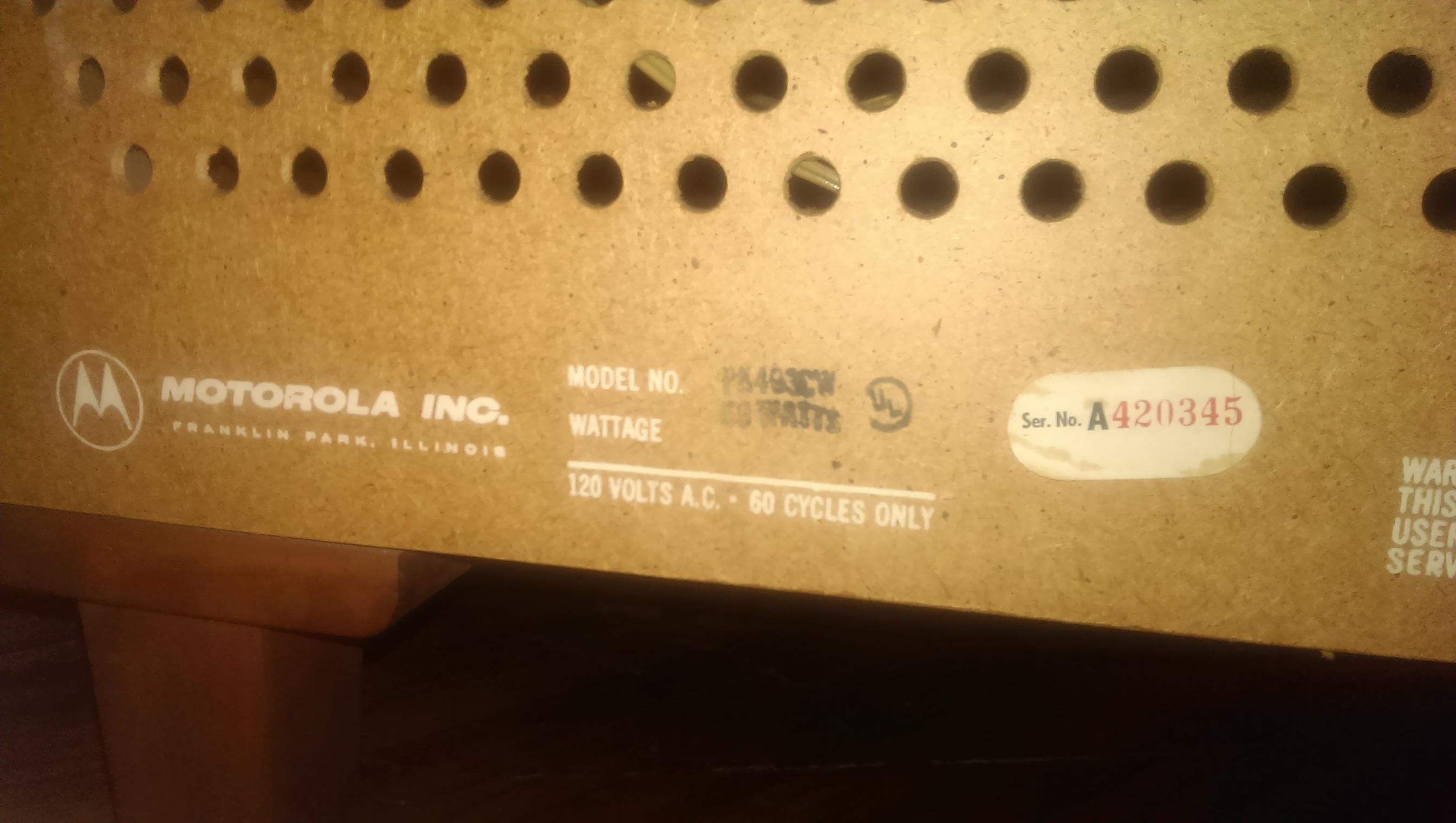 vintage Motorola record player cabinet antique appraisal ...