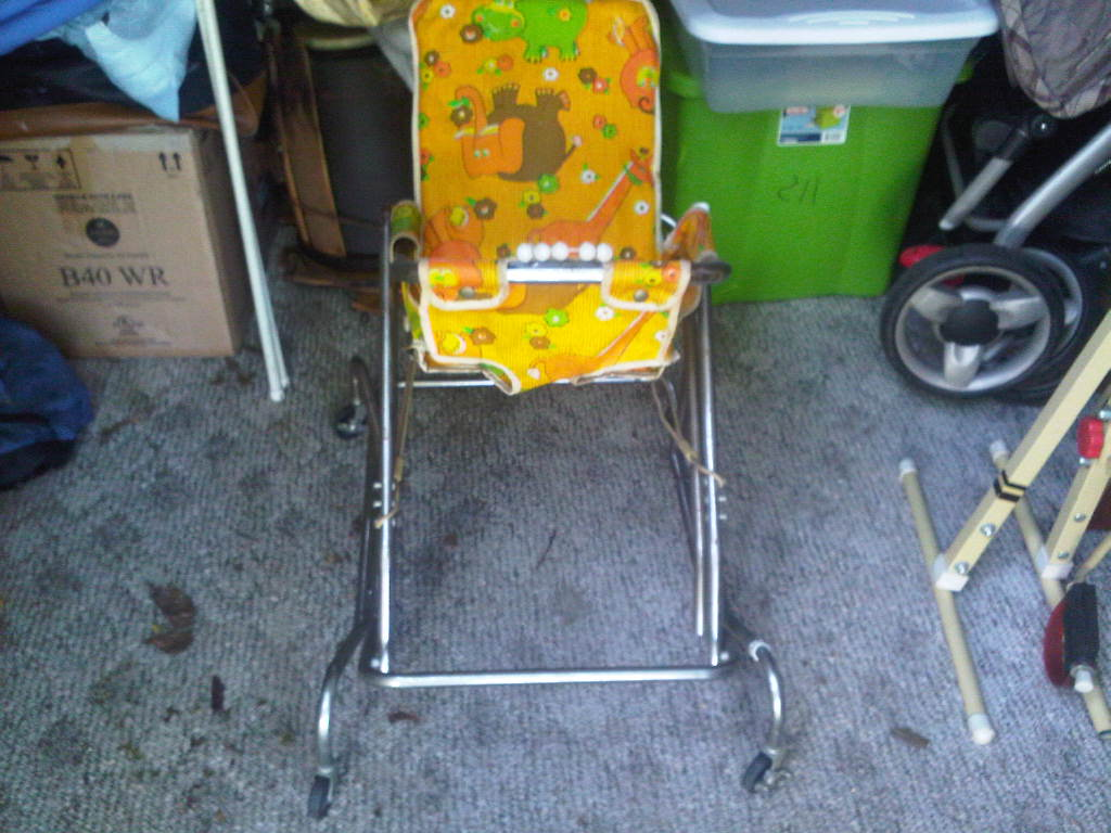 Vintage Baby Walker Bounce Seat Made By Strolee Of Ca