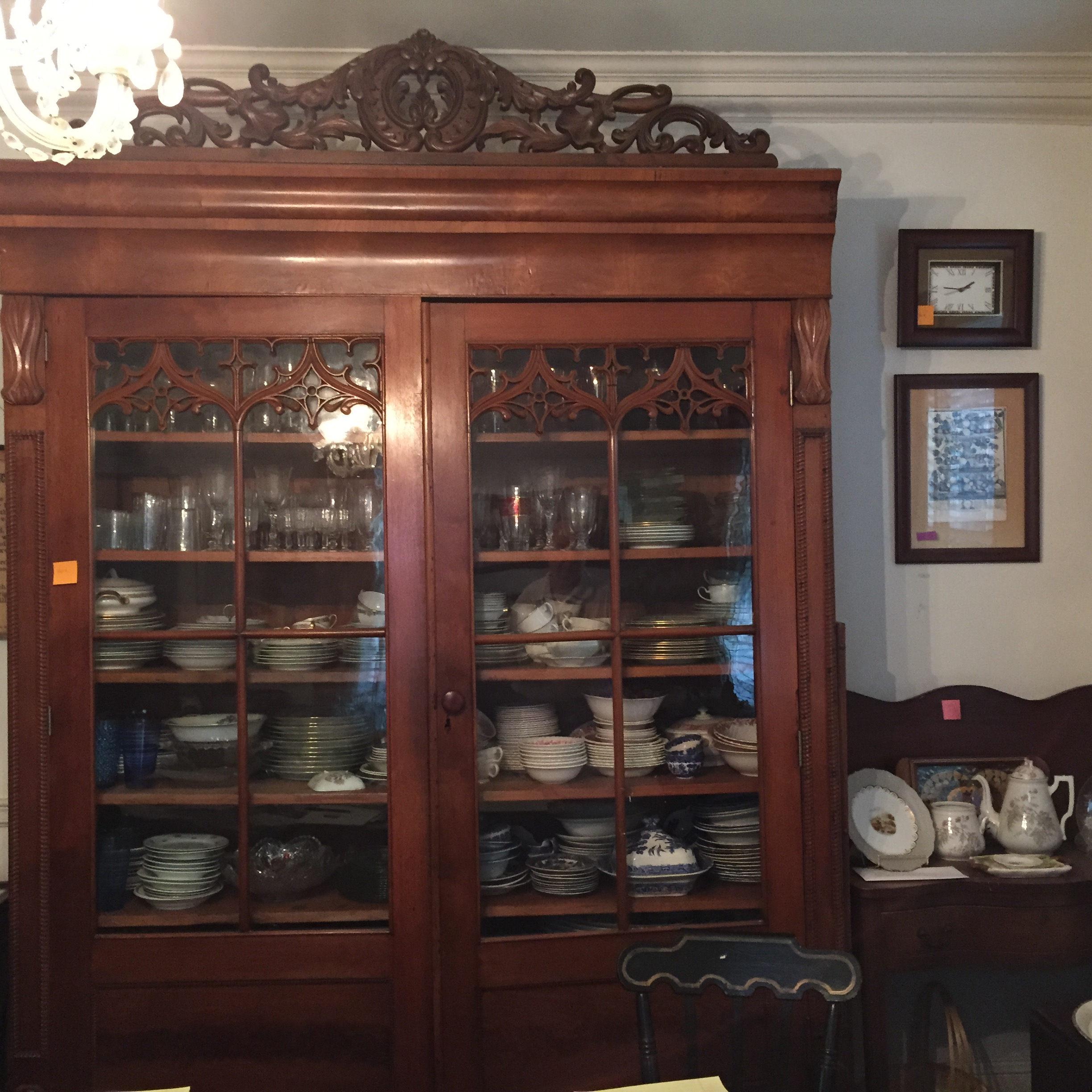 Antique China Cabinet Or Press