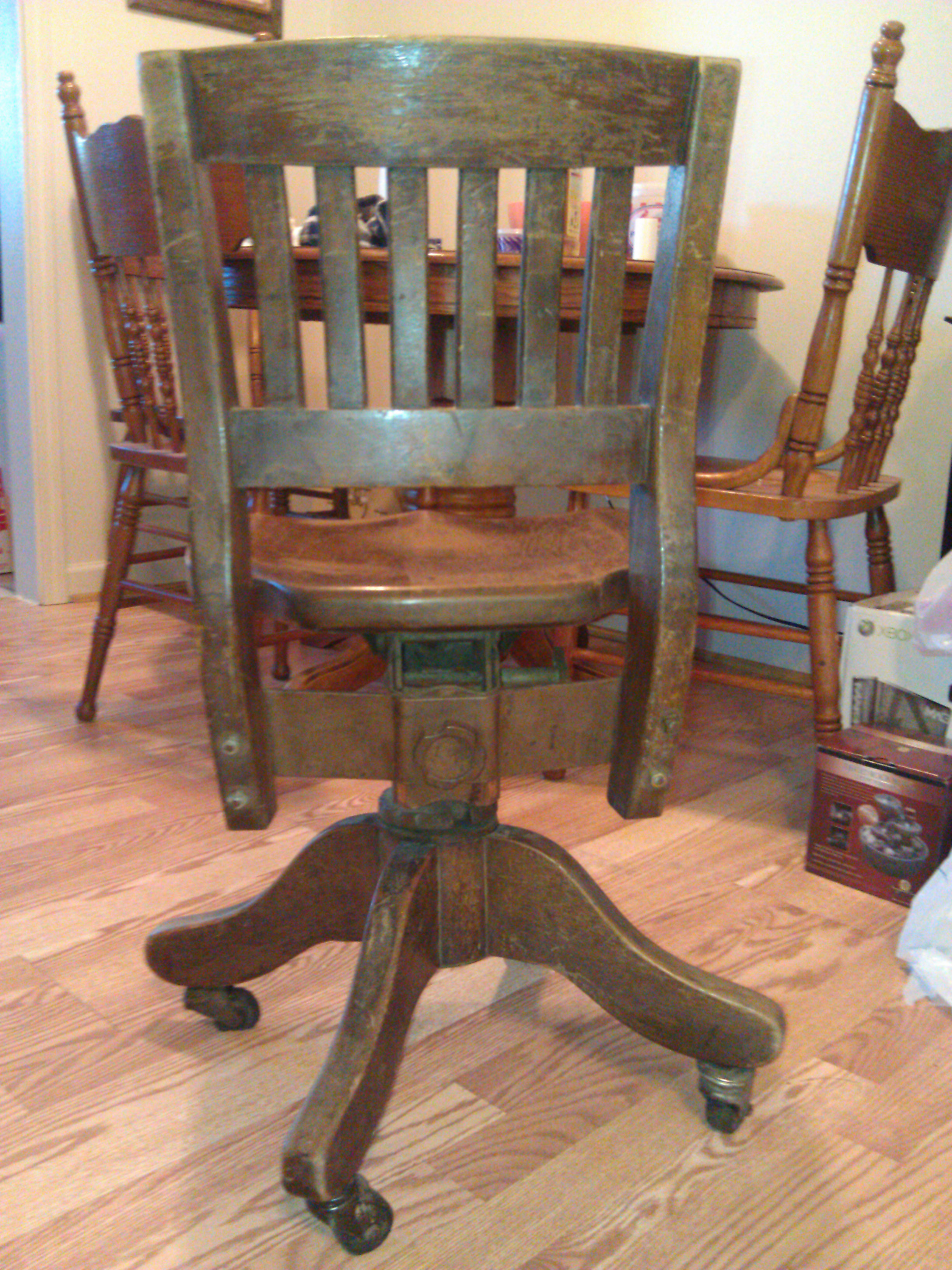 Wooden Swivel Desk Chair Antique Appraisal Instappraisal