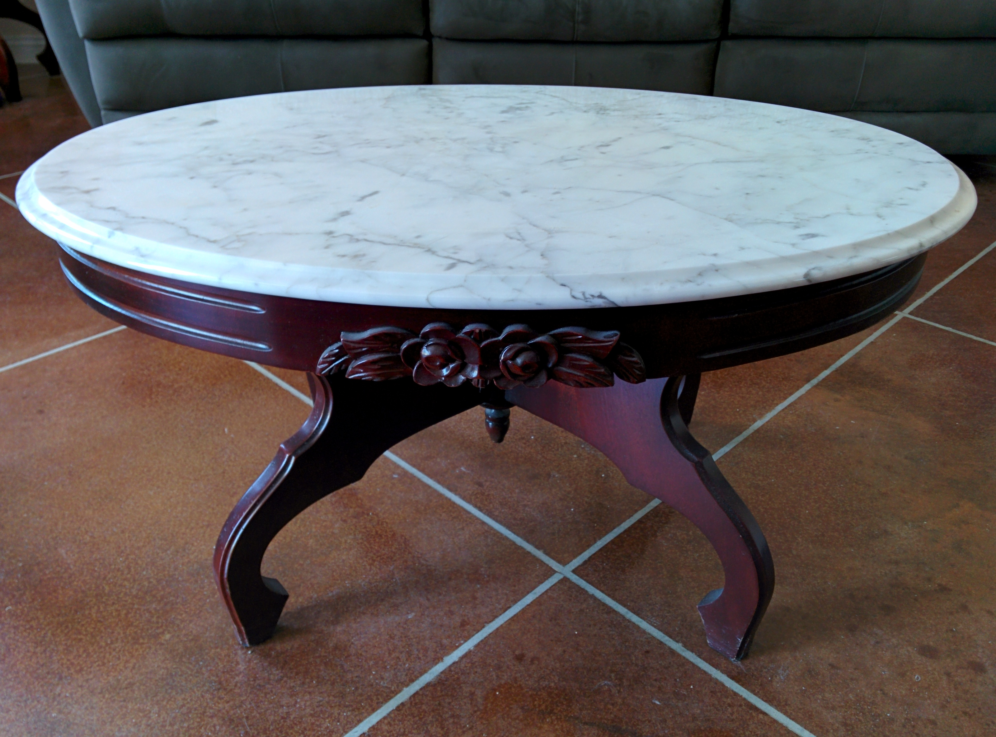 antique marble coffee table Antique Italian Marble Coffee Table. antique appraisal | InstAppraisal antique marble coffee table