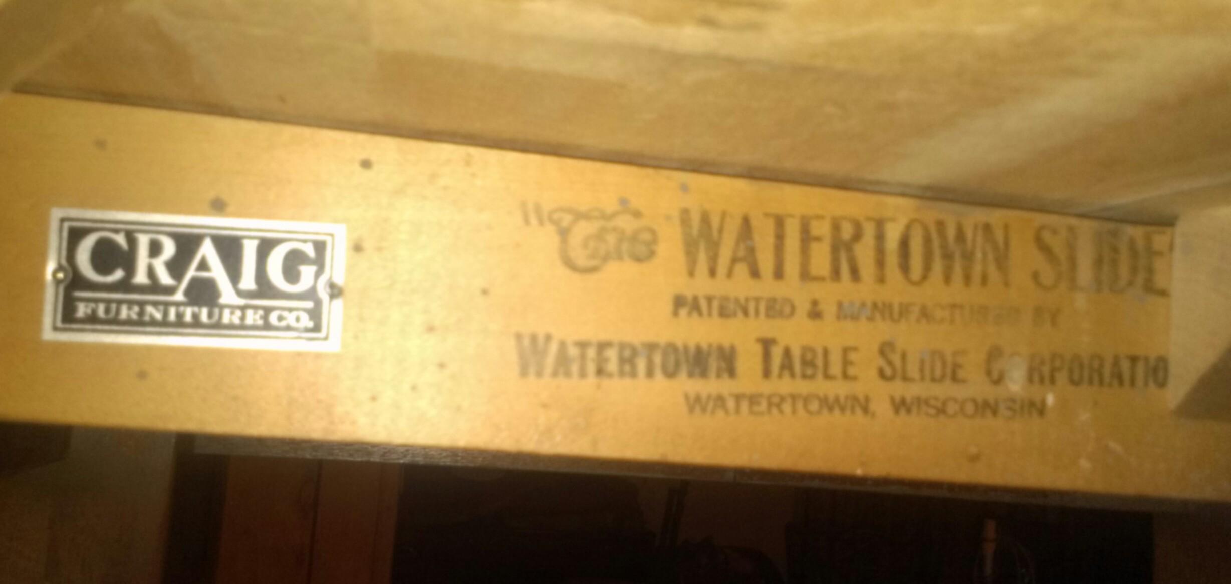 Watertown Slide Drop Leaf Table Antique Appraisal