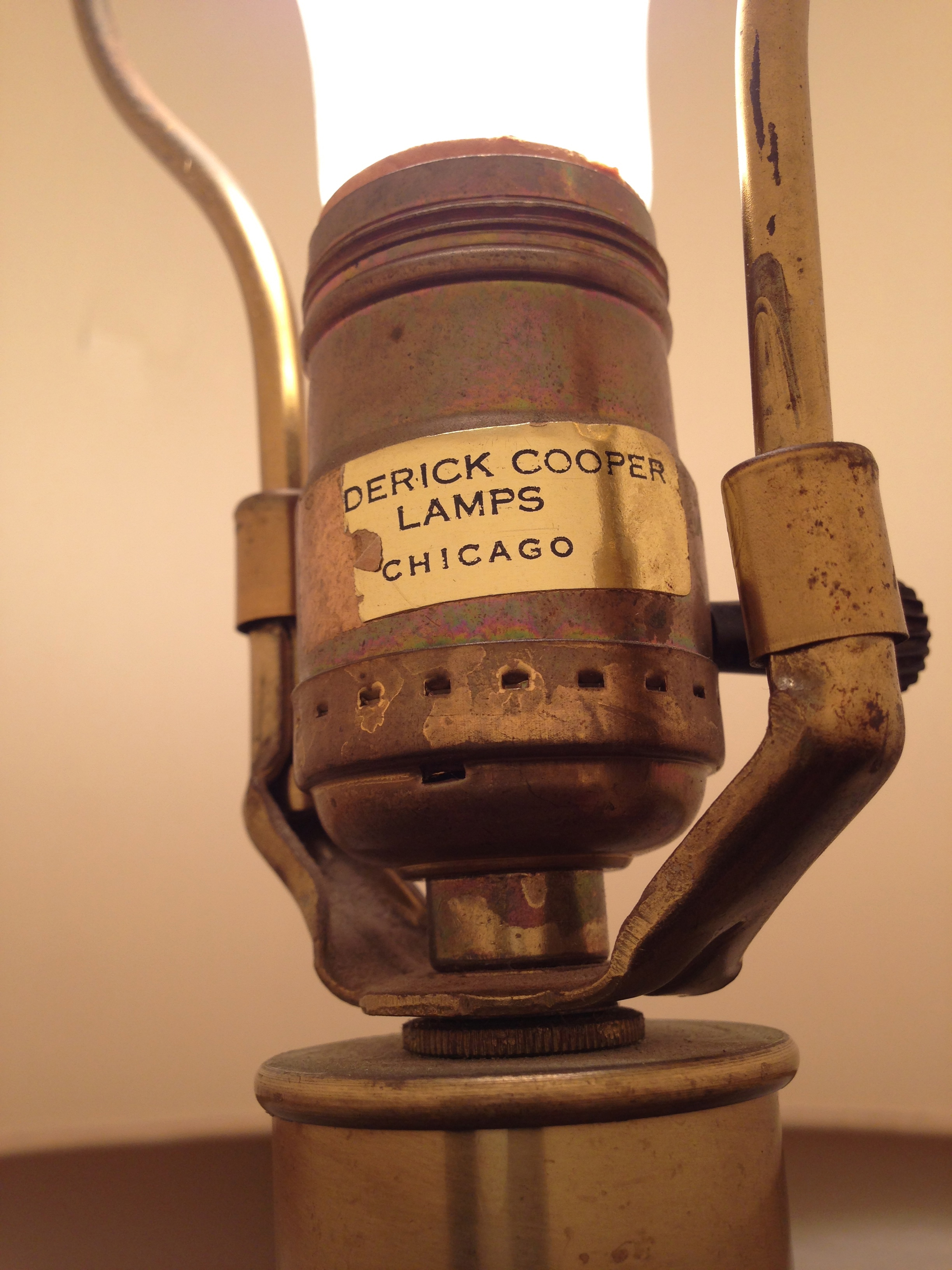 Frederick cooper antique lamp