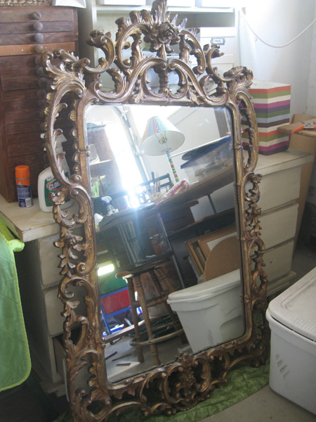 Unique Giant Turner Wall Accessory Mirror -Gold, Ornate and Huge antique  XJ14