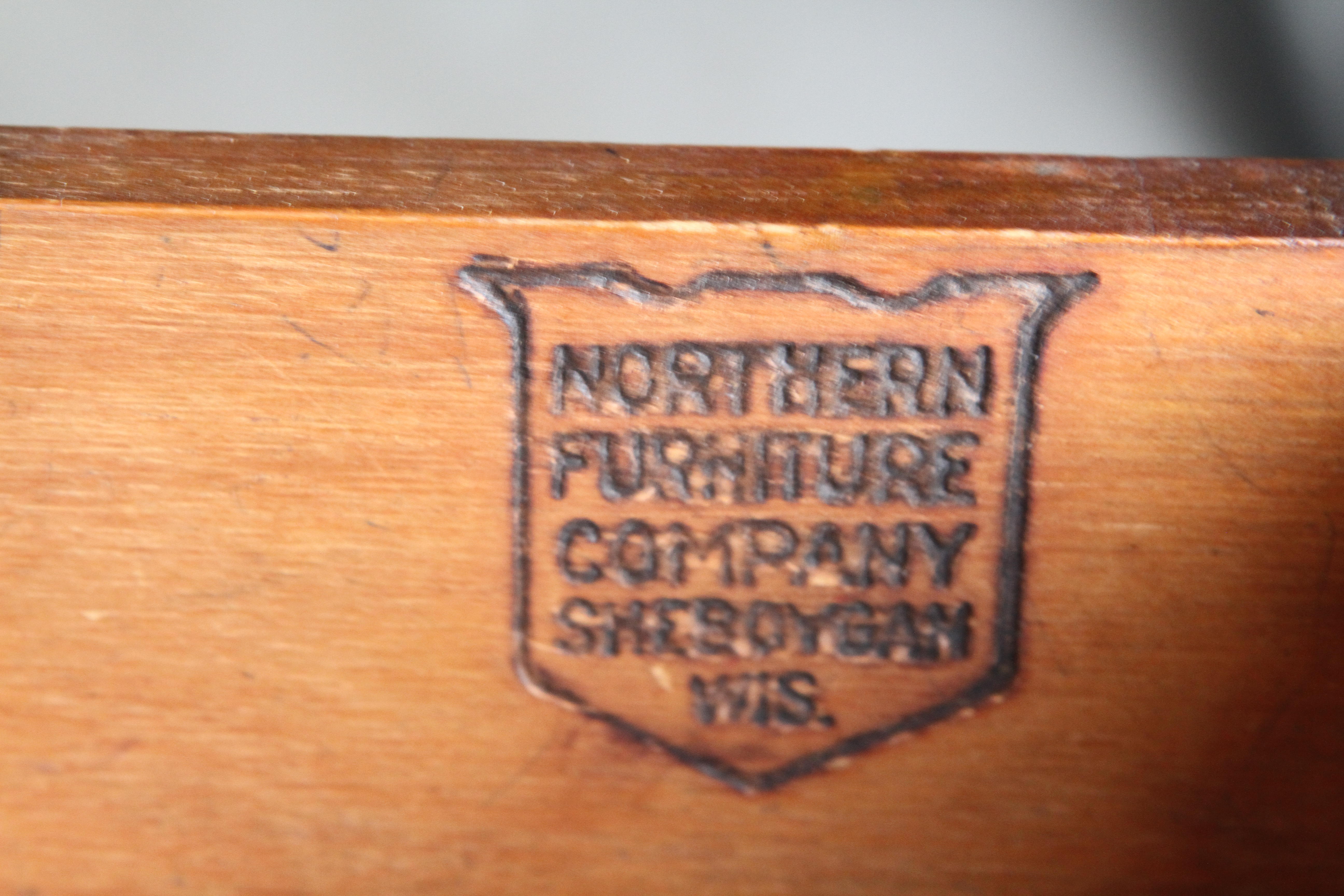 Antique Desk Made By The Northern Furniture Company