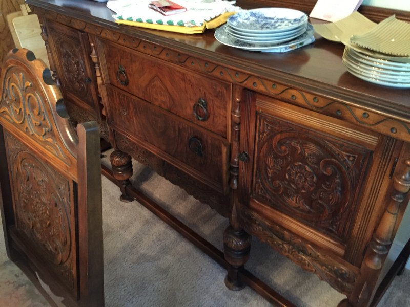 Dining Room Set Table 6 Chairs Buffet Chest Rockford Furniture