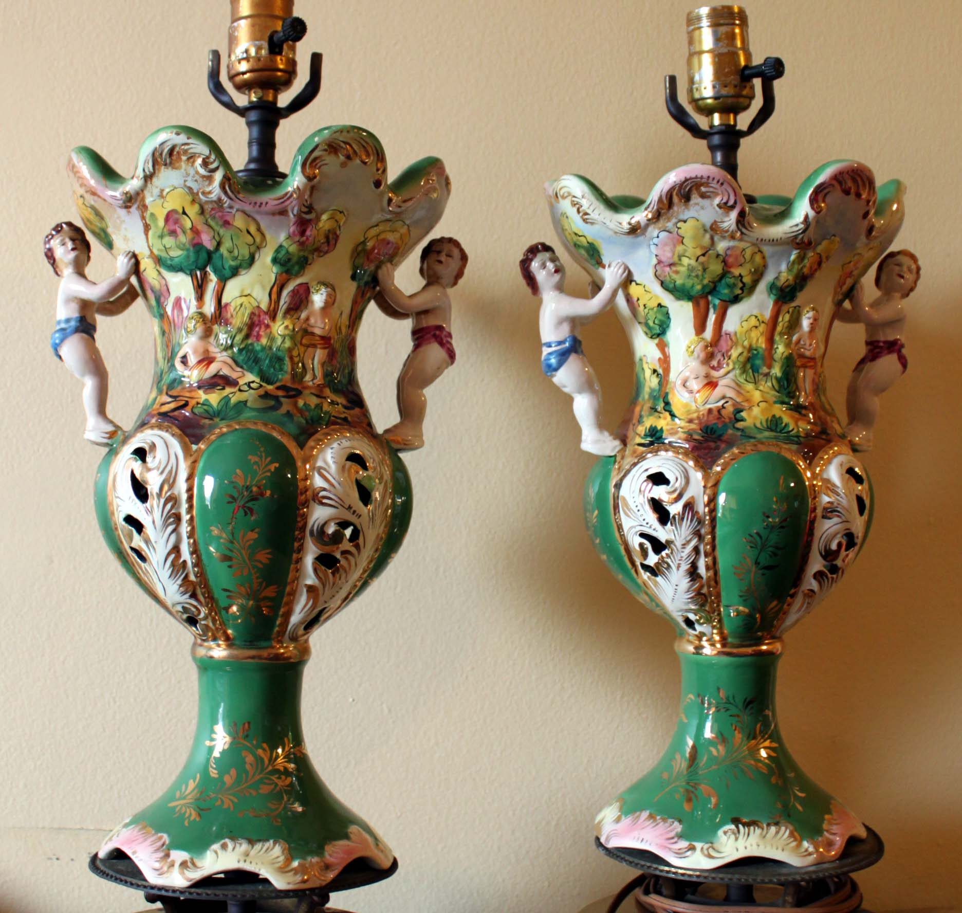 Capodimonte Benrose Italy #0635 Lamps Antique Appraisal