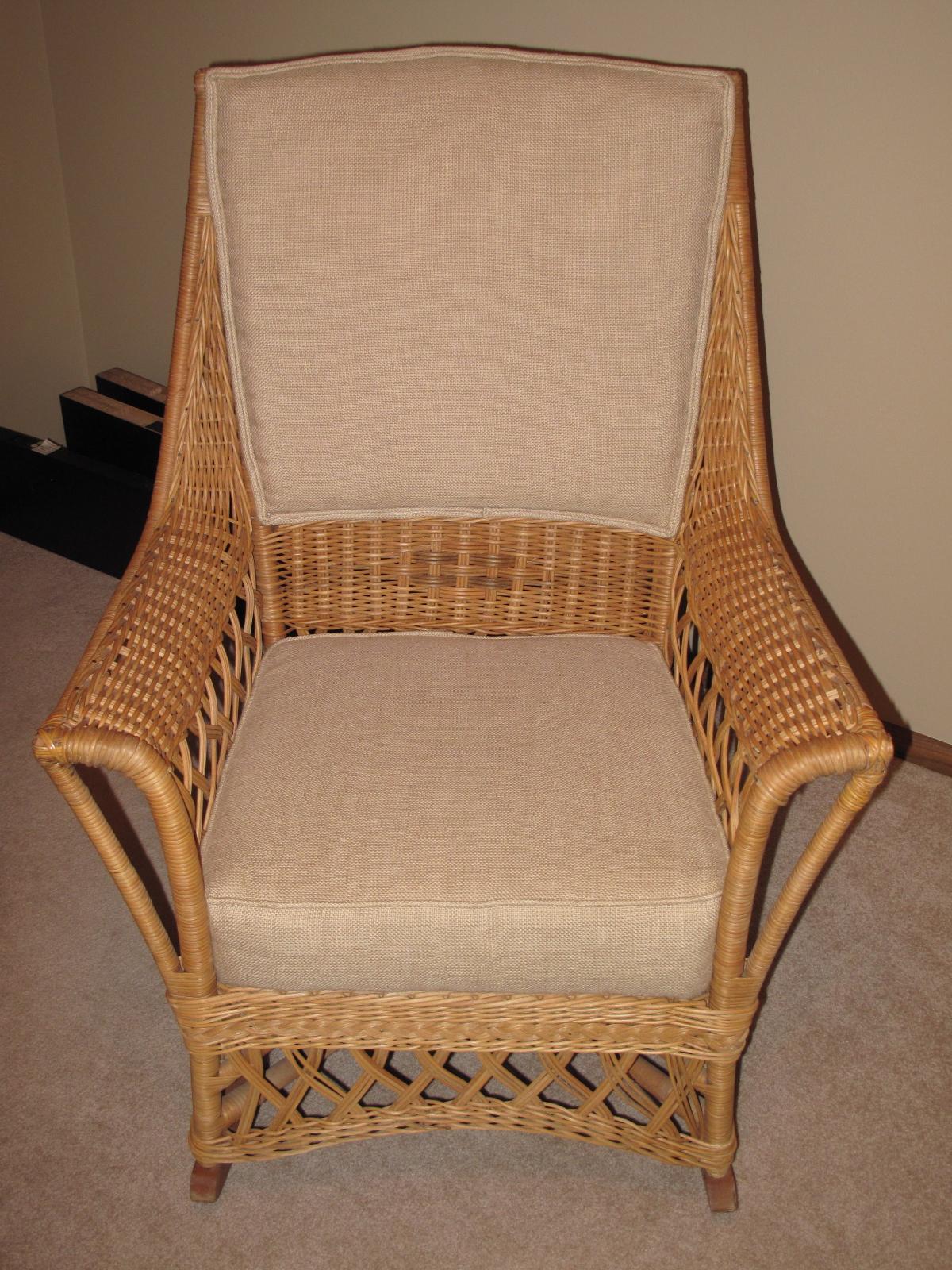 Ypsilanti Furniture Company Wicker Rocking Chair Antique