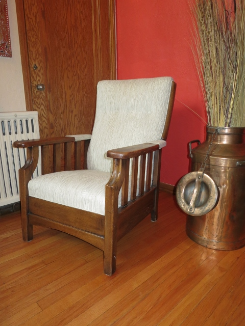 Antique Morris Push Button Recliner Made By Royal Chair Co.