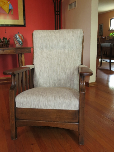Antique Morris Push Button Recliner Made By Royal Chair Co