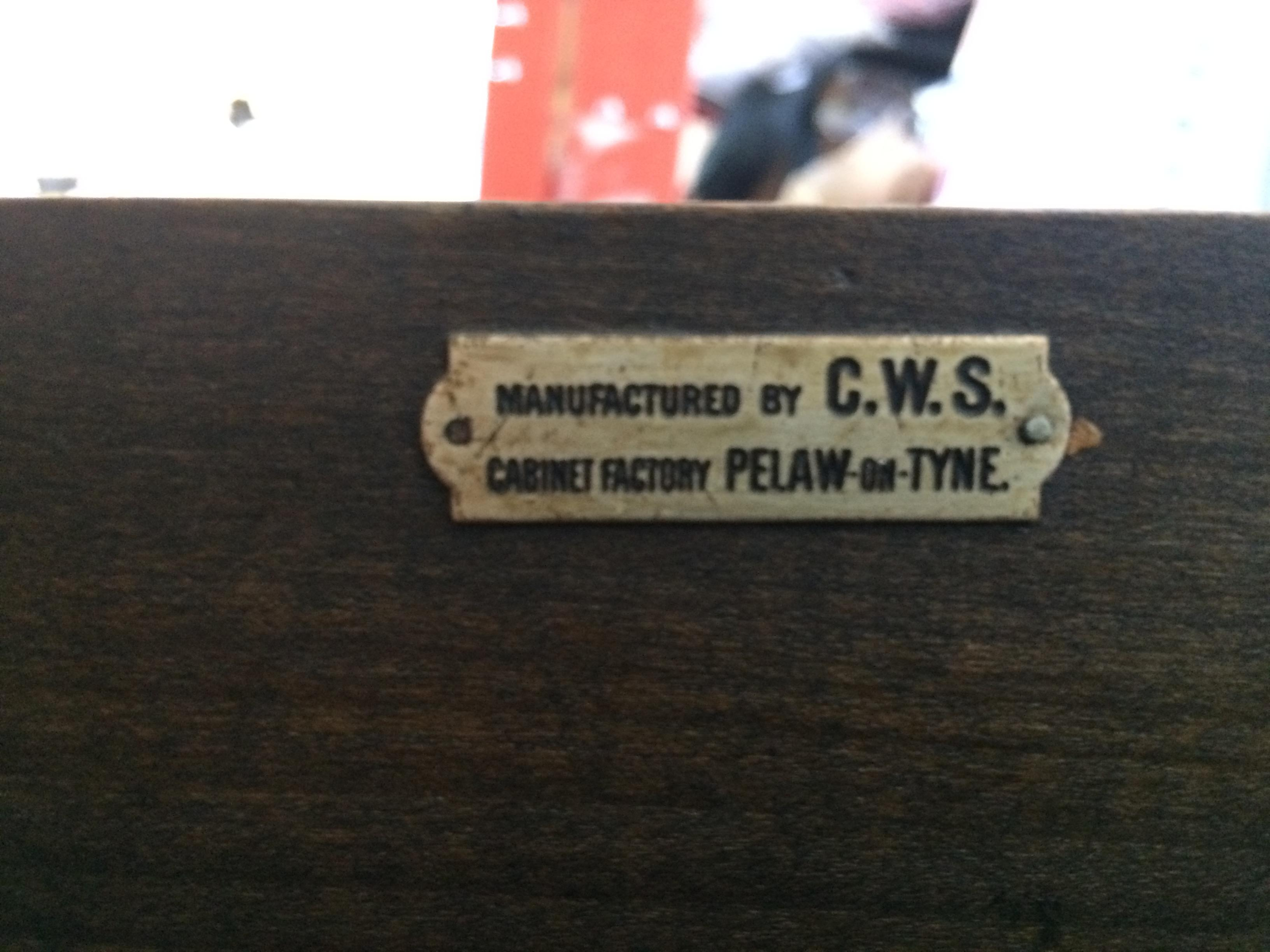 cws pelaw antique. CWS Cabinet Factory Pelaw-on-Tyne Cws Pelaw Antique E