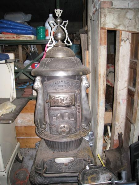 Round Oak Pot Belly Wood Burning Stove Antique Appraisal