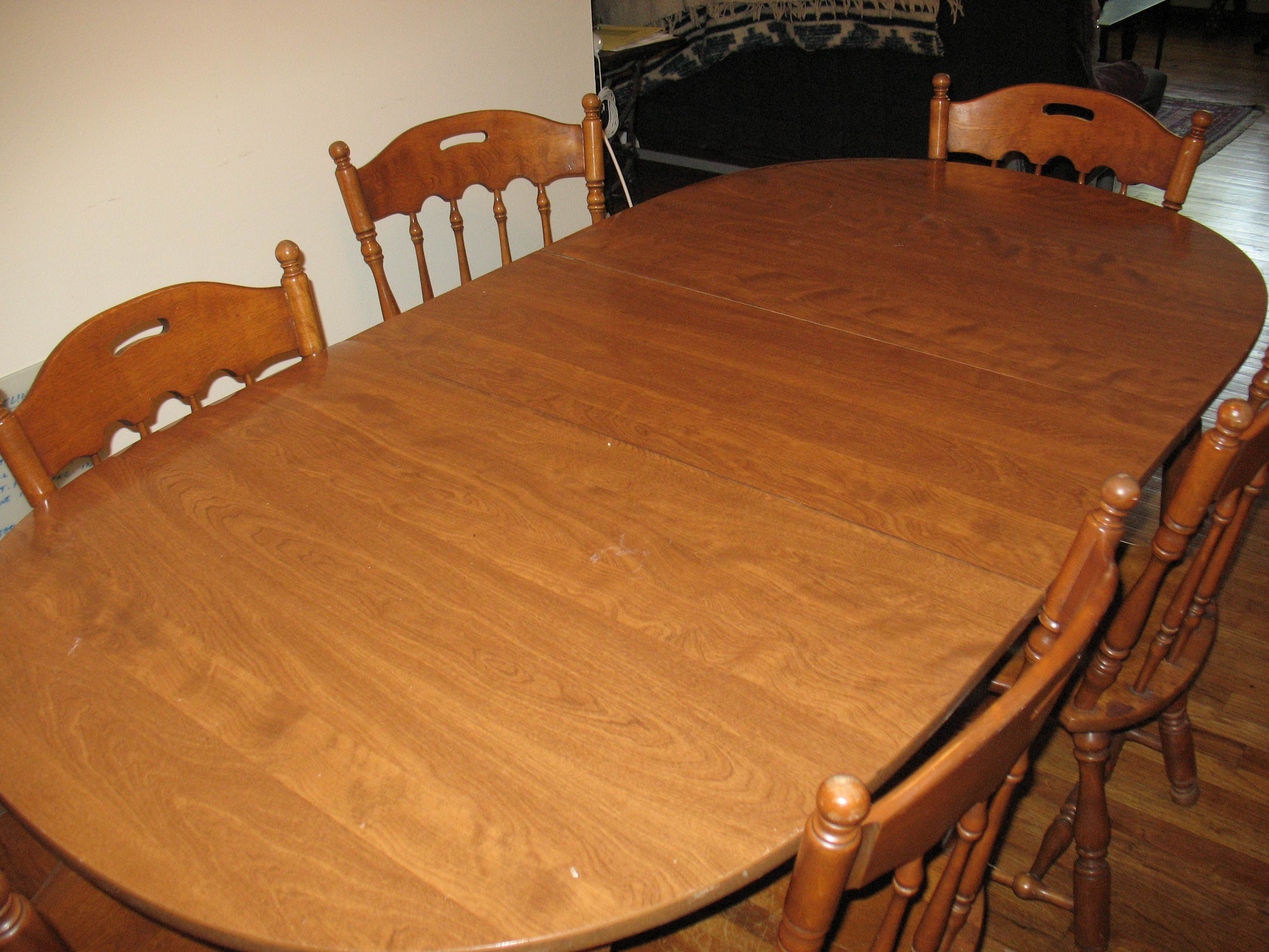 Ethan Allen Dinette Set 106093p Nutmeg Table And Six