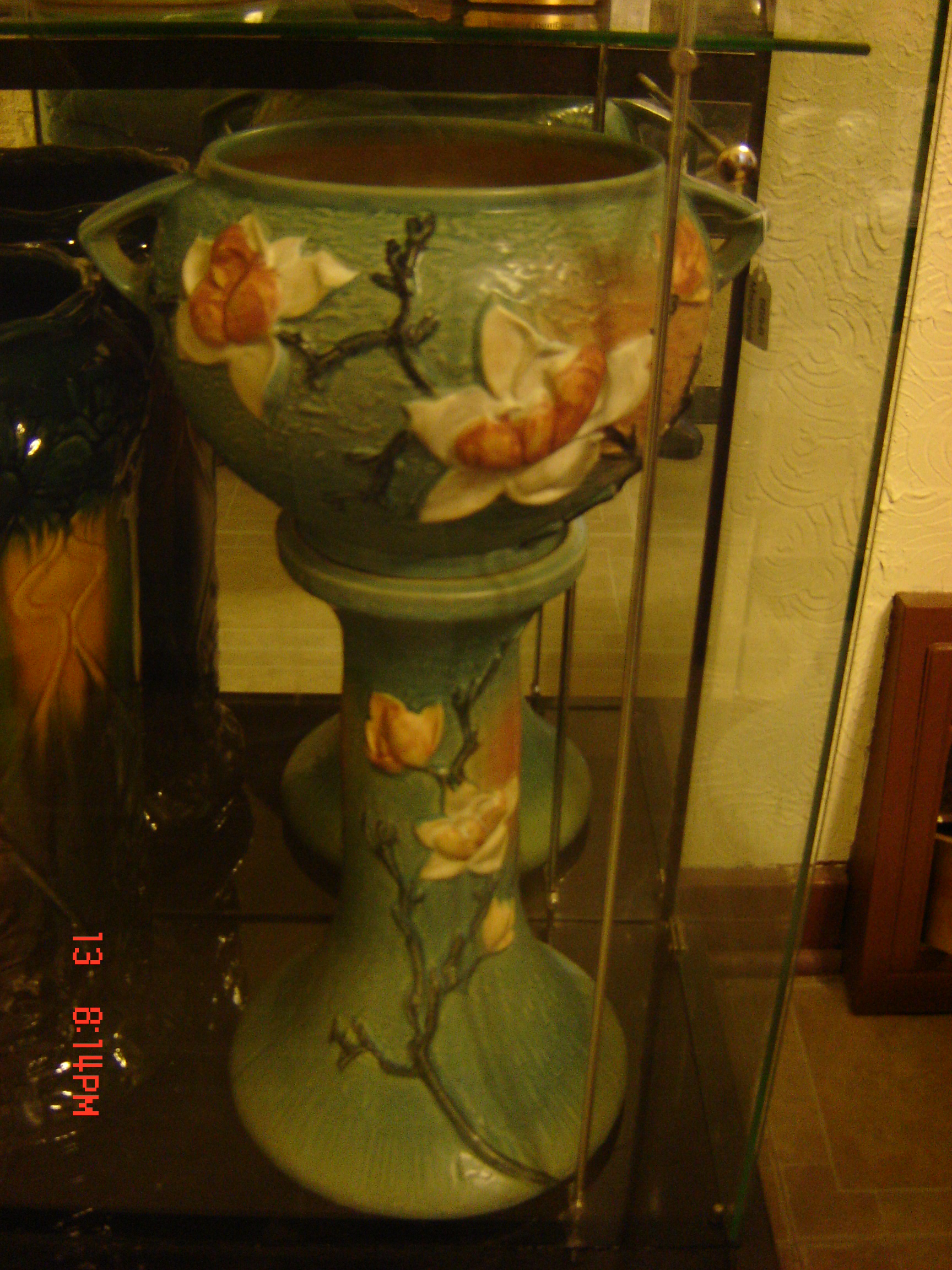 Roseville Jardiniere And Matching Pedestal Two Piece Antique