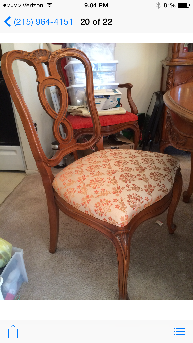 1940 S 50 S Mount Airy Chair Company Dining Room Suite