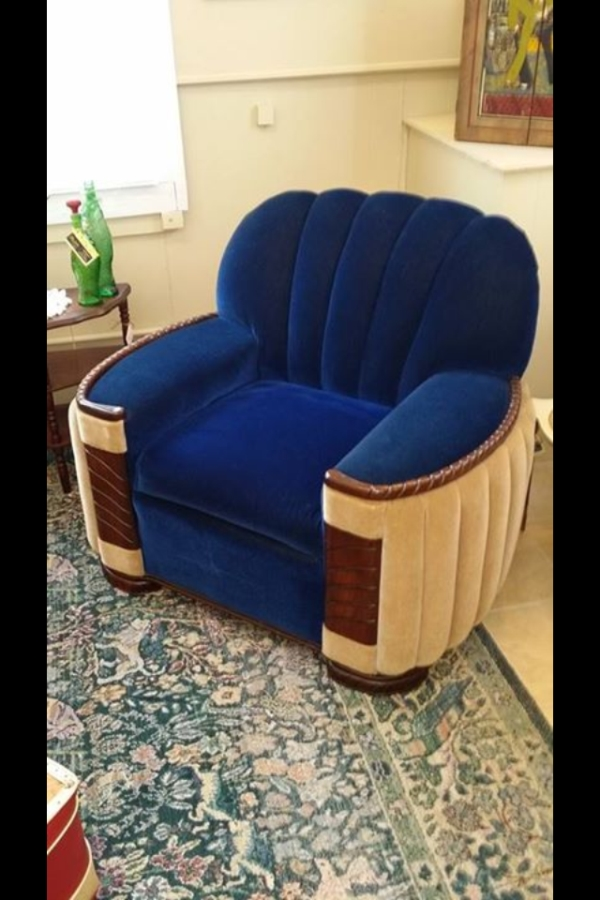 Sensational Art Deco Style Mohair Couch And Two Club Chairs Antique Gmtry Best Dining Table And Chair Ideas Images Gmtryco