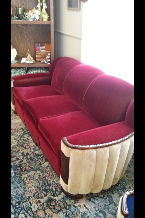 Peachy Art Deco Style Mohair Couch And Two Club Chairs Antique Gmtry Best Dining Table And Chair Ideas Images Gmtryco