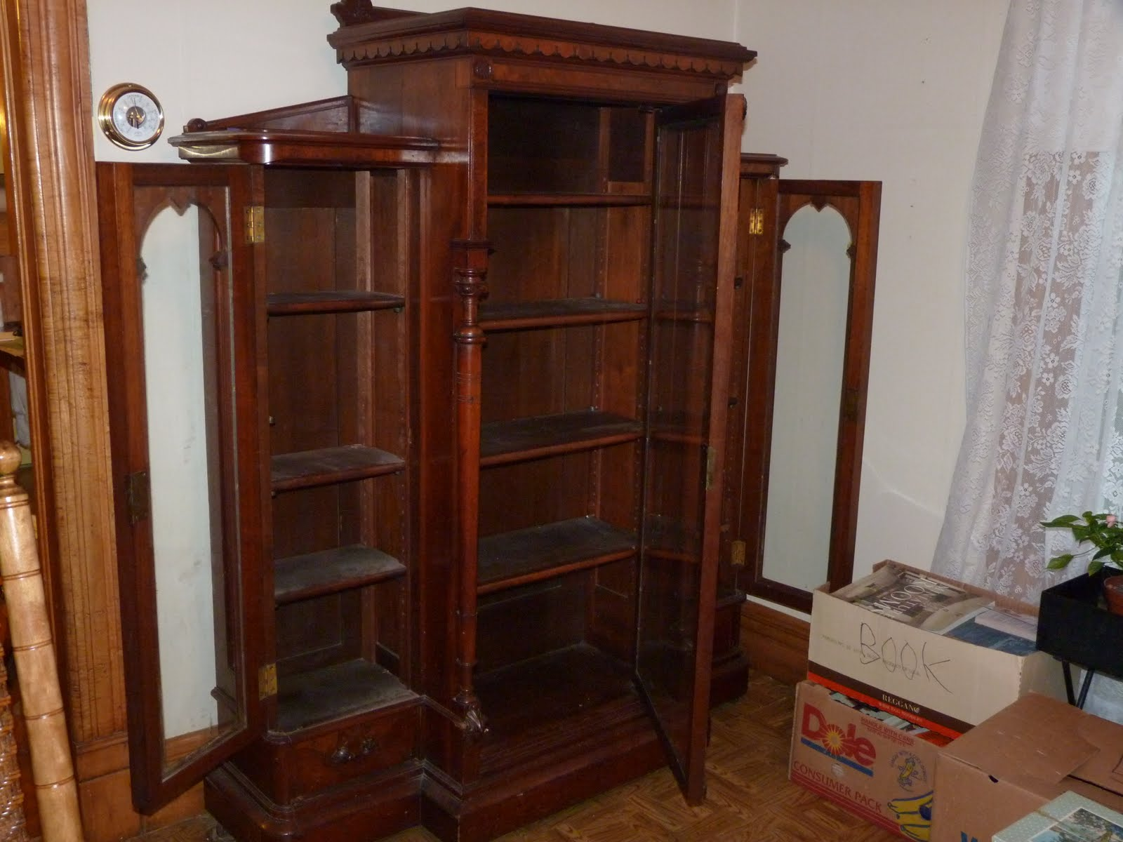 Antique Lockable Bookcase