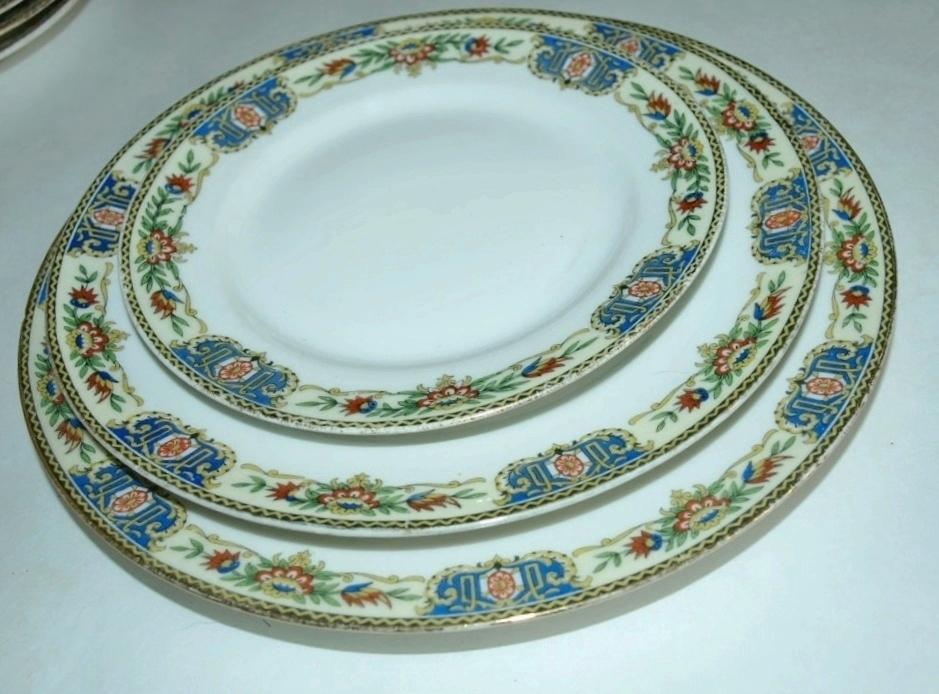 porcelain plates limoges france t v stern brothers new. Black Bedroom Furniture Sets. Home Design Ideas