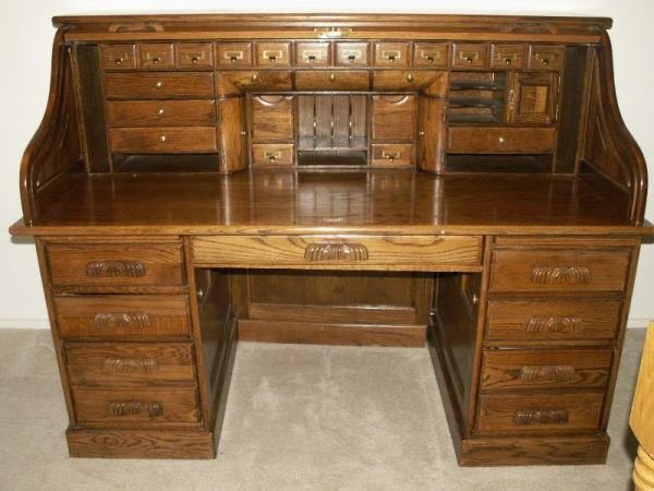 Solid Wood Roll Top Desk Sold In 2010 Antique Appraisal