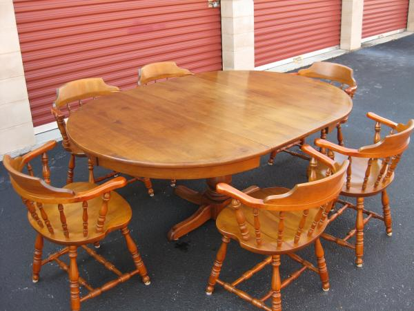 Merveilleux S U0026 Bent Bros Furniture Dining Room Table With 6 Chairs And 2 Leaves