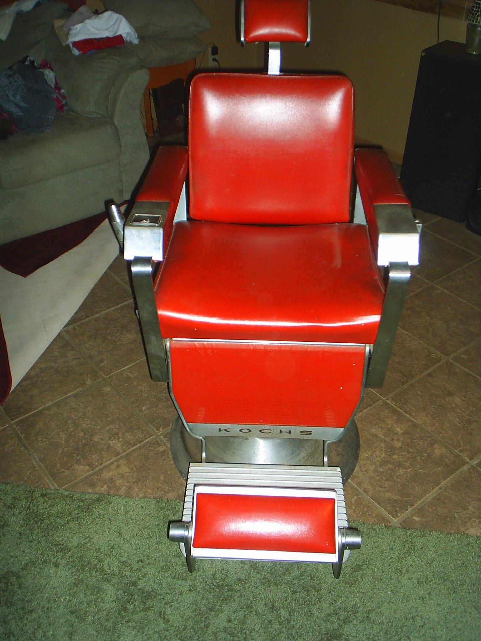 1962 Kochs Barber Chair Red antique appraisal