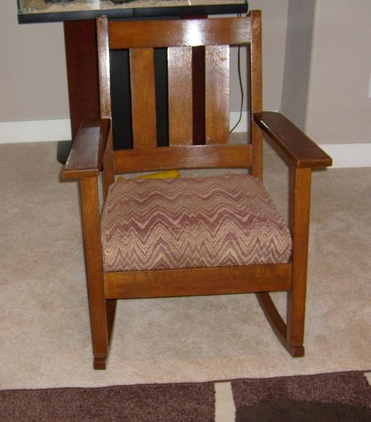 mission oak rocking chair & mission oak rocking chair antique appraisal | InstAppraisal