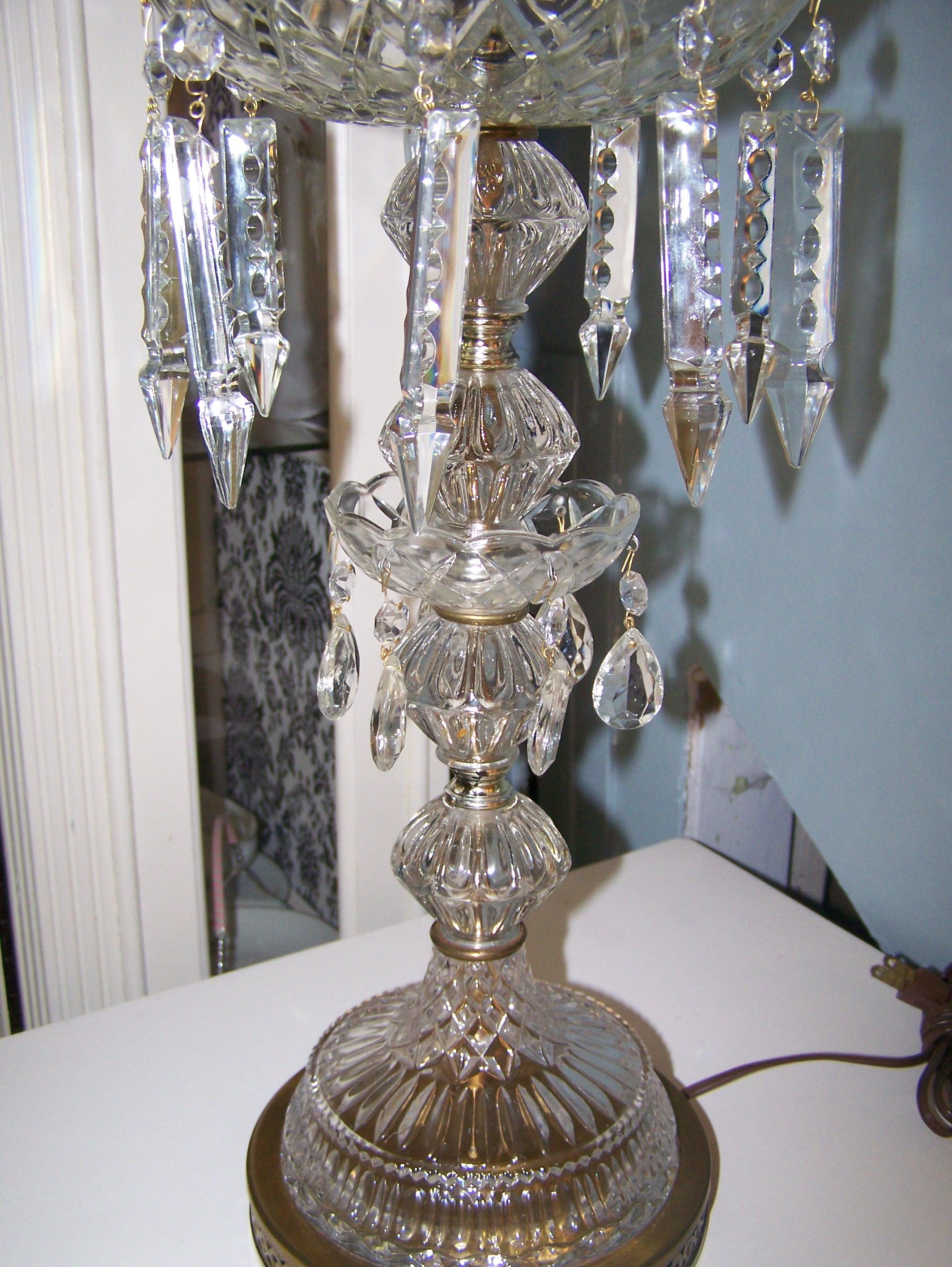 Delightful Vintage Crystal Lamps