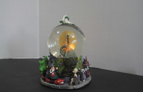 the nightmare before christmas jack and sally snow globe - Nightmare Before Christmas Snow Globes