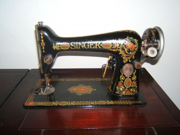 40 Singer Redeye Sewing Machine With Cabinet Antique Appraisal Custom Red Eye Singer Sewing Machine