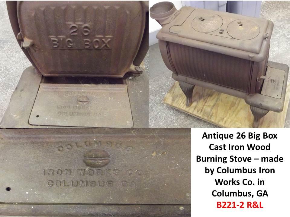 26 Big Box Cast Iron Wood Burning Stove Antique Appraisal