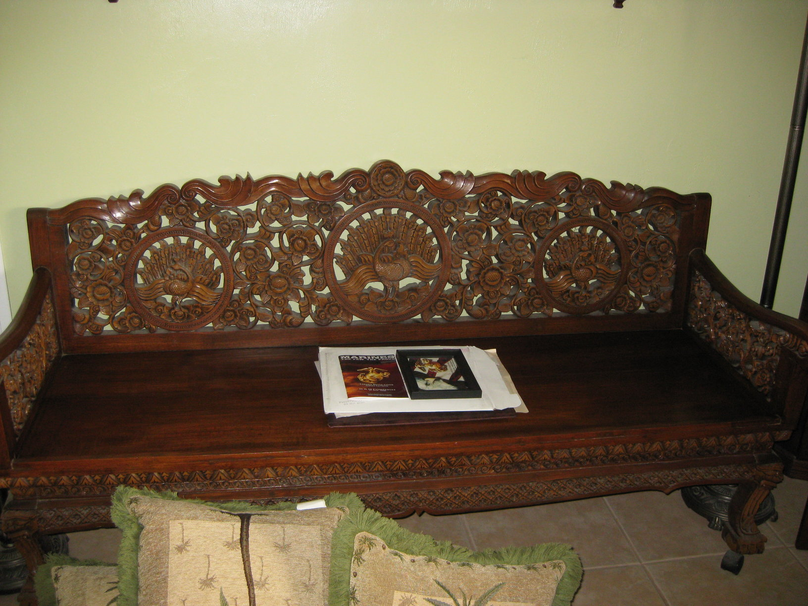 Hand Carved Teak Furniture From Vietnam Thailand Antique