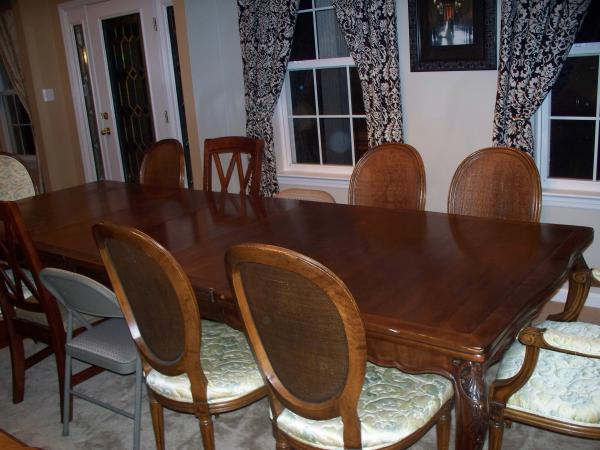 John Widdicomb Dining Room Set With China Hutch