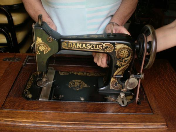 Damascus Treadle Sewing Machine Antique Appraisal InstAppraisal Interesting Damascus Sewing Machine