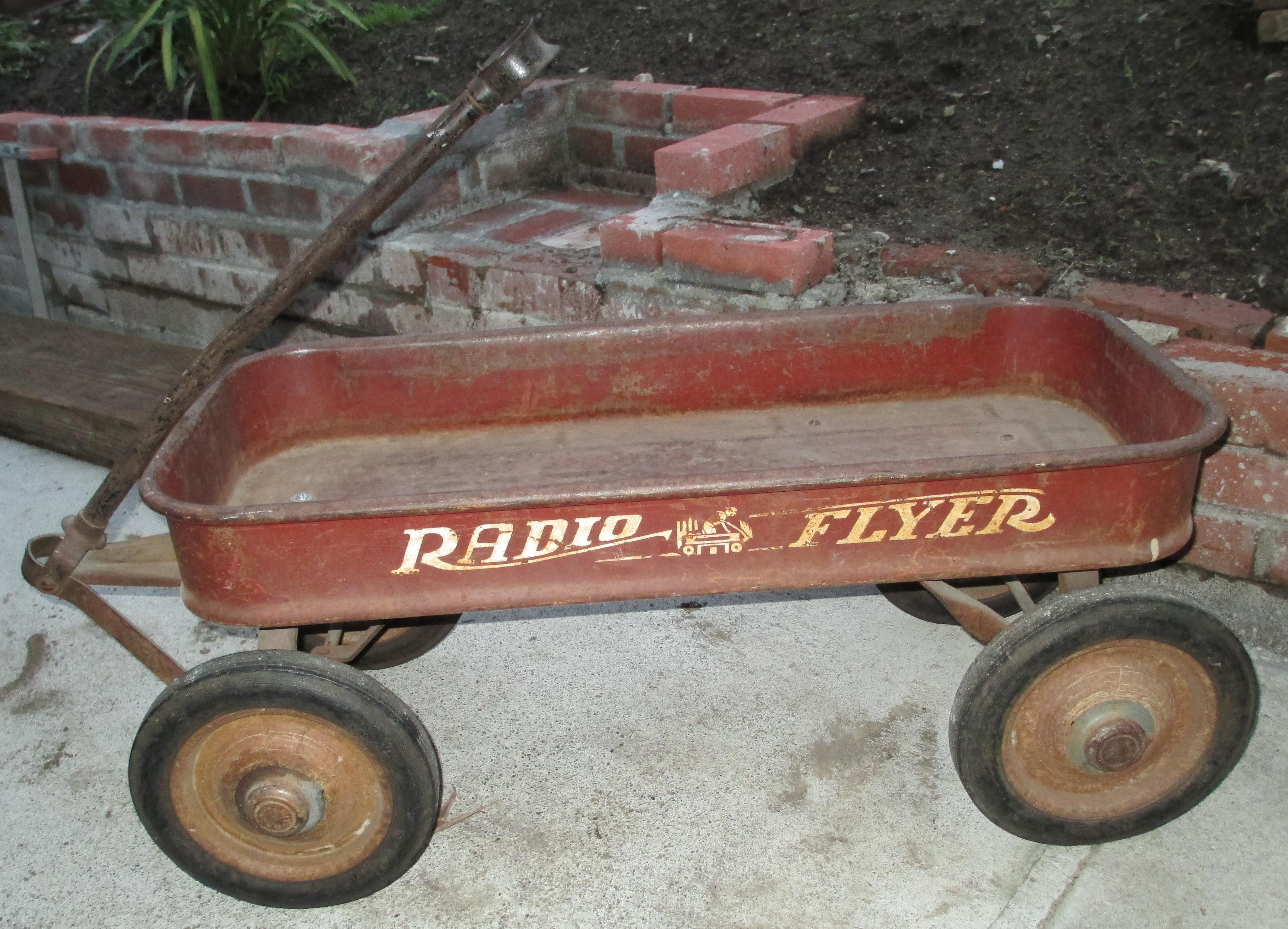 Vintage 1950 S Radio Flyer Large Wagon Firestone Tires Antique Appraisal Instappraisal