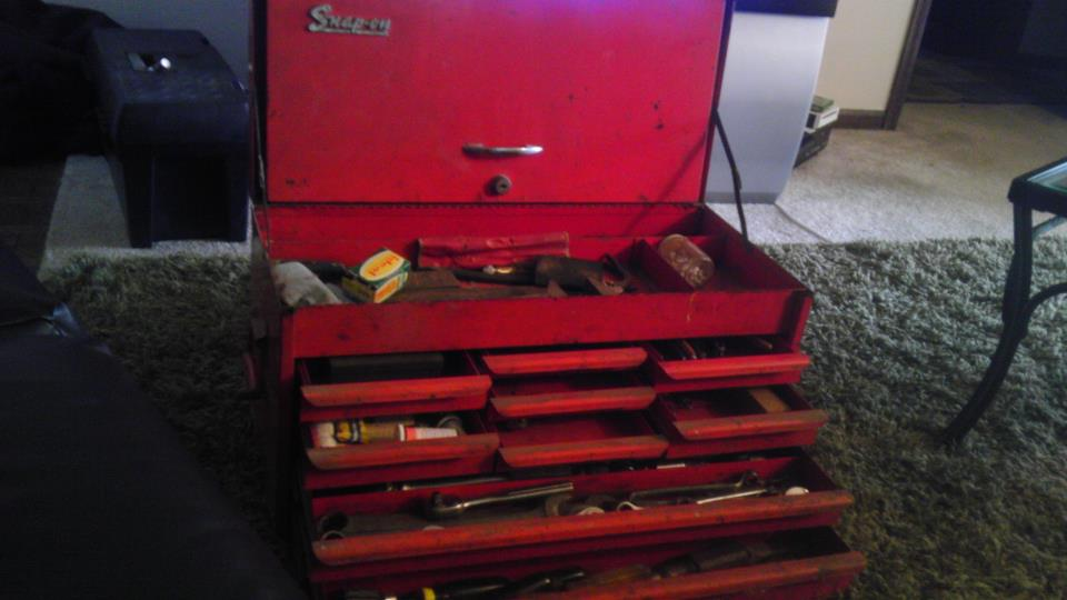 Snap On Vintage Tool Box Rolling Model Top Only Antique