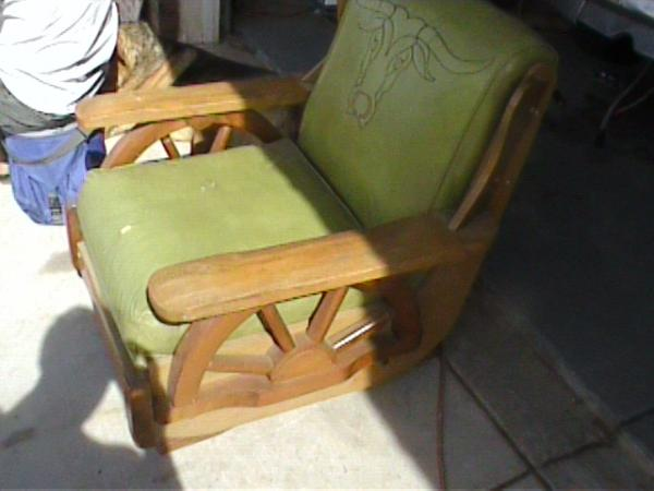 Superieur Wagon Wheel Side Chair And Matching Rocker Chair