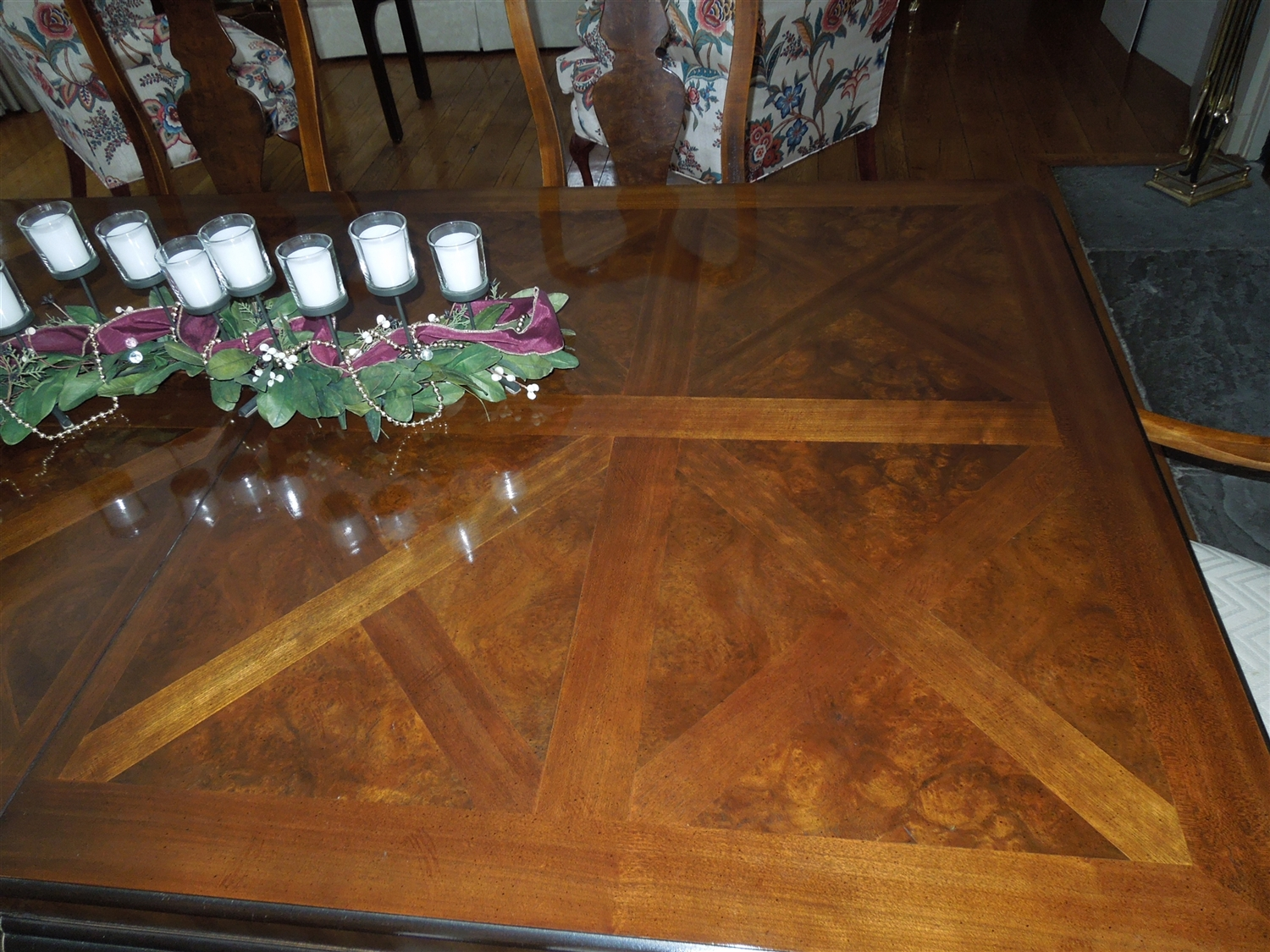 vintage drexel heritage dining room set | Drexel Heritage Connoisseur Dining Table and Chairs ...