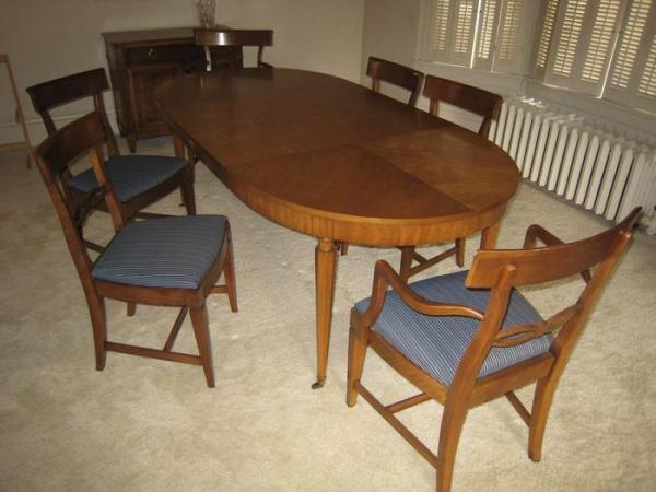 Italian Provincial Oval Dining Table Buffet And Six Matching Chairs