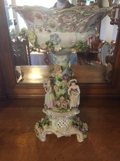 Antique Dresden Porcelain Centerpiece Vase Antique Appraisal